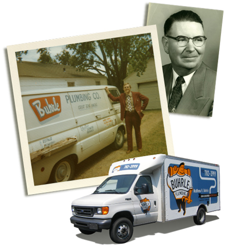 Photos of the Buhrle Plumbing founding fathers.